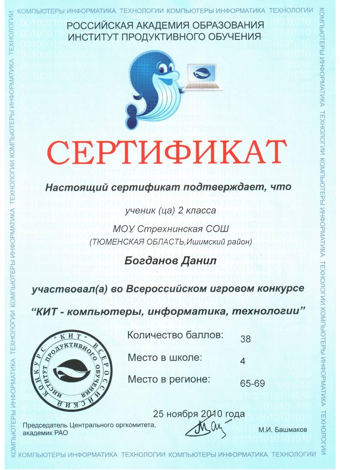 Всероссийского конкурса за компьютером